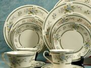 Royal Doulton Adrienne Dinnerware Set Dinner Lunch Bread Plates Cups Vintage
