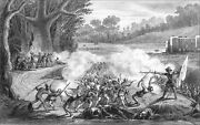 U.s.a. - Conquest Of Florida By Spanish Against French - Engraving From 19th
