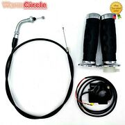 Handle Bar Grip And Throttle Cable Set For 49cc 50cc 66cc 80cc Motorized Bicycle