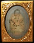 Antique African American Beauty Angel Girl Pre Emancipation Ambrotype Photo Il