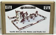 4ground 28s-met-s3 North African City Ruins And Walls Set World At War Terrain