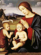 Francesco Francia Madonna And Child With The Infant St John The Baptist Tableau