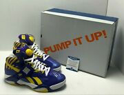 Shaquille O'neal Signed Politics X Reebok Shaq Attack 'alma Mater' Sneakers Bas
