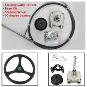 14ft Planetary Gear Outboard Marine Steering System Suit Steering Wheel Trave