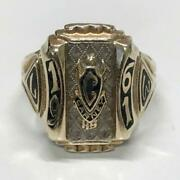 College Ring 10k Vintage Size Us 10 Rare From Japan