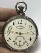 Antique Doxa Medaille Milan 1906 Silver Pocket Watch Hors Anti Magnetique