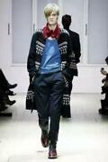 Yohji Yamamoto Pour Homme Wool Nordic Pattern Coat 07aw Size L Rare From Japan