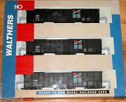 Walthers 932-34056 Ho 61' Wood Chip Car 3-pack Chattahoochee Industrial Railroad