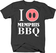 I Love Memphis Bbq With Pig Snout Tennessee Cuisine And Food Tshirt