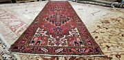 Antique 1940-1950and039s Nagorno-karabakh 3and0398 X 15and0394 Wool Pile Armenian Runner Rug