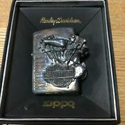 Zippo Lighter Harley Davidson Collab Rare Used Very Rare Vintage Motorcycle F/s