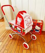 Hello Kitty Stroller Toy Rare Japan Anime Sanrio 1991 90and039s Vintage Model F/s