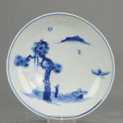 Antique Chinese Porcelain 17th C Kosometsuke Old Pine And Traveller