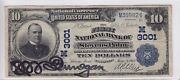 1902 First National Bank Of Stevens Point Wi 10 Date Back Note Ch 3001 M35982