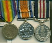 A Wwi Passchendaele M.m. Group Of Three Awarded To Gunner J. H. Mcmunn