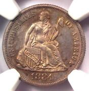 1884 Proof Seated Liberty Dime 10c Coin. Certified Ngc Pr66 Pf66 - 1450 Value