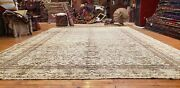 Beauiful Antique 1930and039s Muted Natural Dyewool Pile Hereke Rug 8x12ft