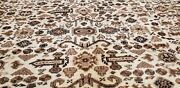 Stunning Late 1950and039s Semi Antique Undyed Wool Color Armenian Hereke Rug 8x11ft