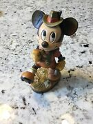 Rare Vintage Anri Disney Mickey Mouse 6andrdquo Woodcarving Figurine Italy. Free Ship