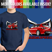 Toddler Kids Tee Youth T-shirt Mazdaspeed Mazda 3 Mps Zoom Zoom Evil M Bat