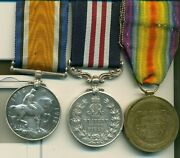 A Wwi M.m. Group Of Three Awarded To Corporal N. Munroe Canadian Garrison
