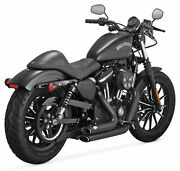 Vance And Hines Shortshots Stagg Black 47229 Fits 2014 H-d Sportster