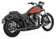 Vance And Hines Pro Pipe Black 47527 Fits 2012-2014 H-d Softail