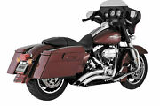 Vance And Hines Big Radius 22 Chrome Exhaust System For 09-16 Flh Flt 26042