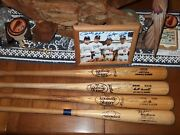 Dodgers Legendary Infield Game Used Sign Bats