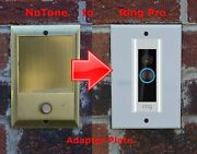 Ring Pro Doorbell Adapter Plate Nutone And Mands Intercom Systems Stainless Steel