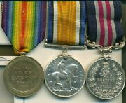 A Wwi M.m. Group Of Three Awarded To Corporal F. Mcgee Canadian Machine Gun
