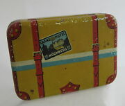 Vintage Keim And Co Germany Tin Litho Travel Suitcase Luggage Candy Container