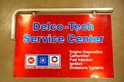 Ac Delco Tech Service Center Double Sided Sign W/ Hangar Bracket