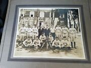Old Baseball Team Picture East Berlin High School Pa Players Uniforms Bats