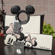 Nwt Loungefly Disney Minnie Mouse Peekaboo Handbag And Zipper Wallet New With Tags