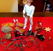 Louis Marx 1967 Johnny West 1863 Action Figure Geronimo With Several Accessories