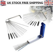 3x Carb Jet Cleaning Tool Set Carburetor Wire Brush Cleaner Kits For Motorcycle