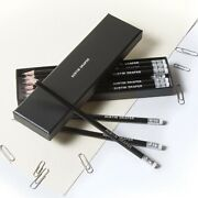 12 Black Pencils In A Box Personalised With Name Printed/embossed Hb Pencils