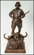 Michael Coleman Teddy Roosevelt Bronze Sculpture Army Hunting Signed Artwork