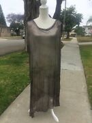 Vintage Blue Solid Silver Assuit  - Belly Dance Dress - Shawl Made In Egypt