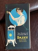 1920and039s Dazey Electric Churn 4 Page Brochure Booklet Rare
