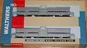 Walthers 932-26023 60' Material Handling Car 2-pack Amtrak Phase Iv 4