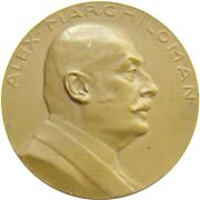 Y372 Romania Wwi Prime Minister Alex Marghiloman 1924 Medal By Weinberger
