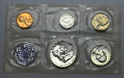 1959 P Proof Us Mint Set Of 5 Silver Coin Sealed In Plastic