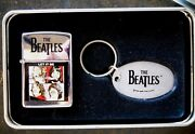 Zippo Lighter And Key Ring Set 1996 The Beatles Imbossed Let It Be Album Cover