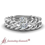 Solitaire Engagement Rings And Bands For Women 0.55 Ct Oval Shaped Diamond Vvs2