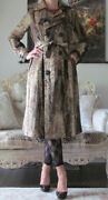 Dsquared2 Runway Gold/burgundy Multicoloured Dress-y Coat/trench It 40us 4-6xs