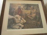 Joseph Velazquez Western Art -the Traders- Lithograph Pencil Signed