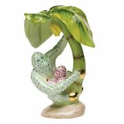 Herend Orangutan Mother And Baby Figurine Raspberry And Lime Flawless 945