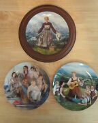 3 Knowles Collector Plates - Sound Of Music 1 And 2 - Annie And The Orphans